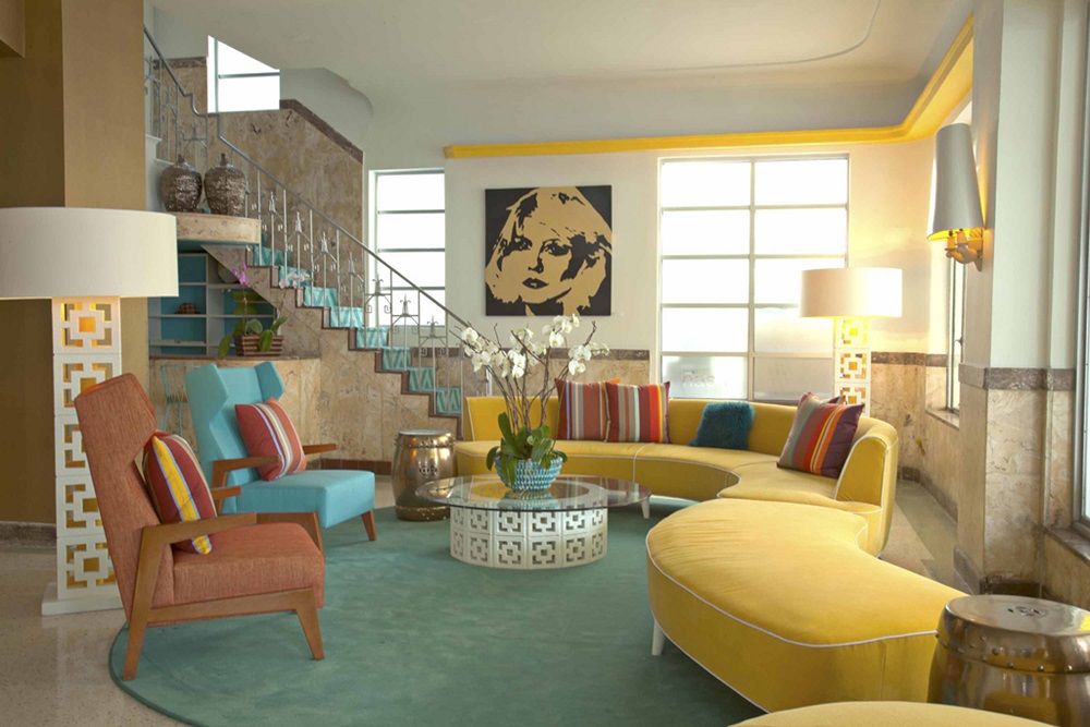 Lords South Beach/馬卡龍色/大廳/沙發/邁阿密/美國