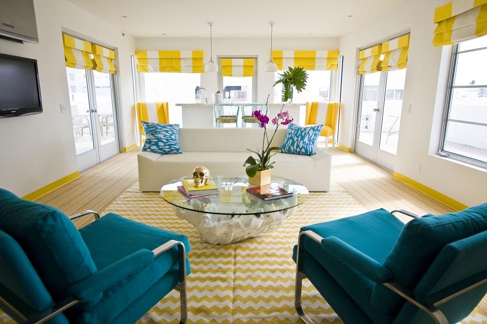 Lords South Beach/藍色沙發椅/客廳/邁阿密/美國