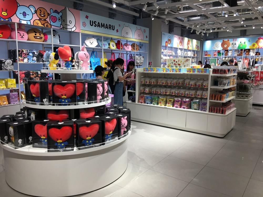 原宿LINE FRIRNDS旗艦店/BT21周邊商品/防彈少年團/原宿/東京/日本