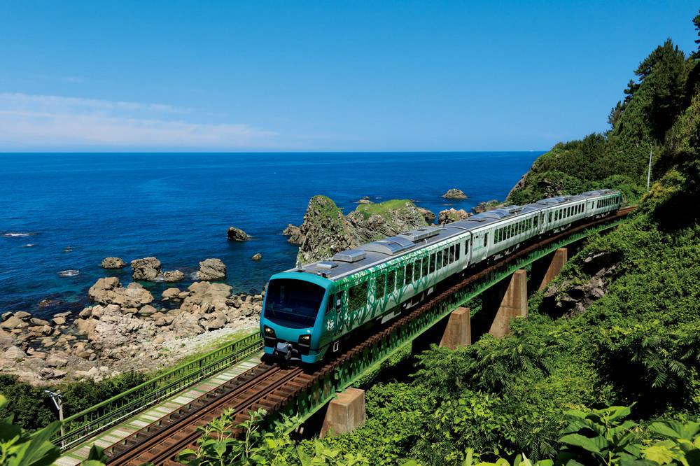 一生必得搭乘一次/JR五能線/絕景/日本海/白神山地