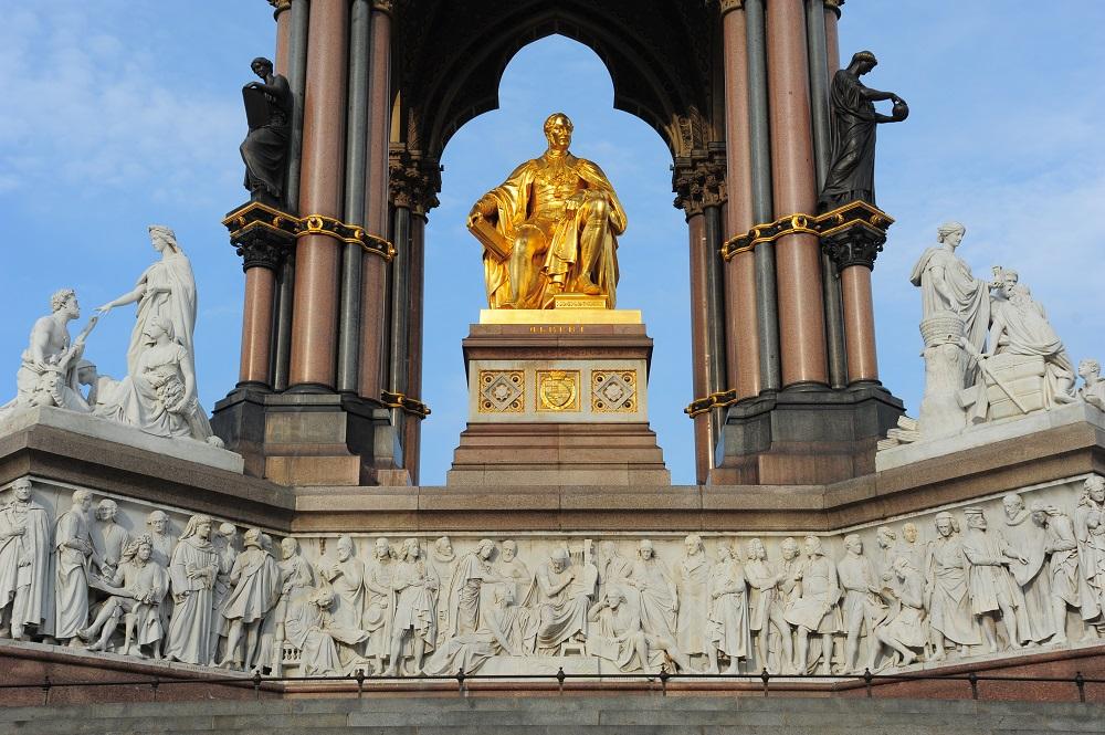 阿爾伯特紀念亭/倫敦/英國/肯辛頓/維多利亞女王