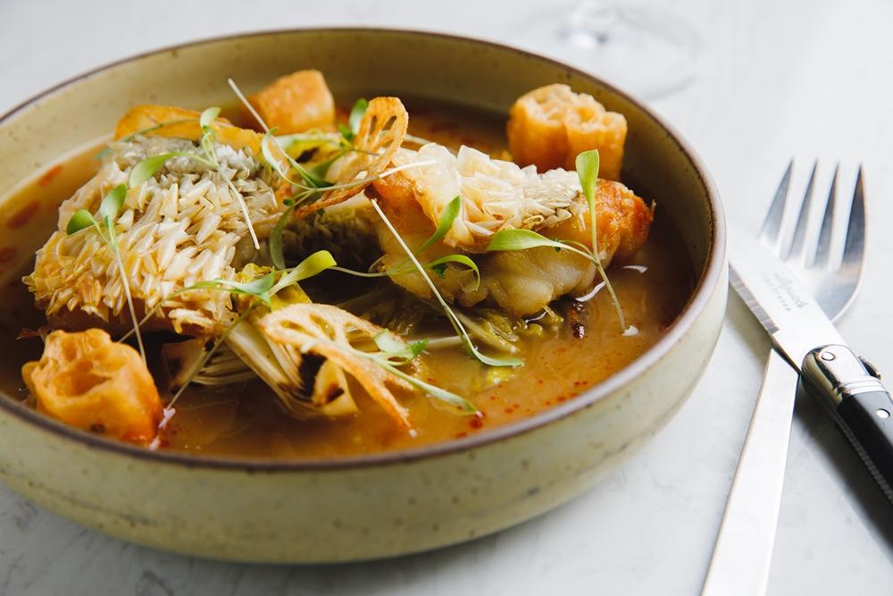 VG The Seafood Bar/台北美食/台北/信義安和/海鮮吧/上湯脆鱗馬頭魚上湯脆鱗馬頭魚