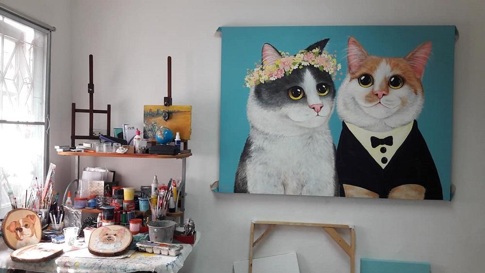 泰國華欣藝術家กิ ตติ นารอด作品/綠美丘II 藝術市集