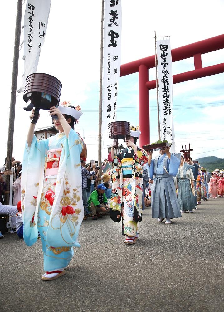 會津田島祇園祭/日本第一花嫁遊行/七行器行列/華麗振袖和服