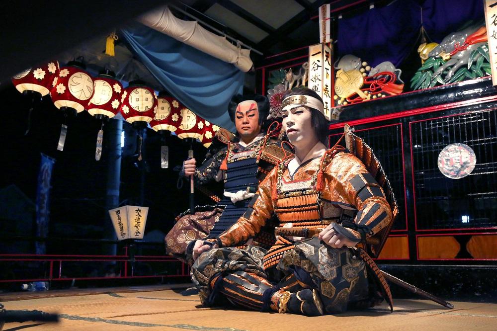 會津田島祇園祭/屋台/傳統歌舞伎劇碼/日本武士