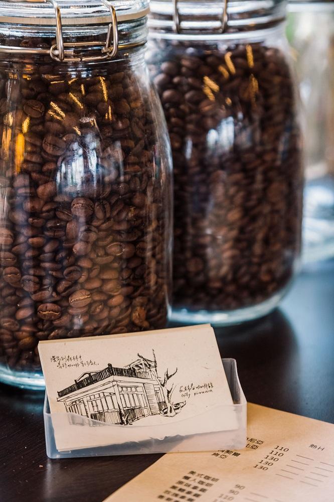及林春咖啡館/手沖咖啡/手繪名片/咖啡豆/澎湖