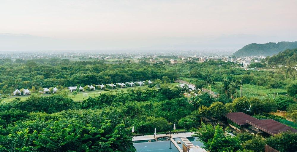 從宜蘭抹茶山(聖母山步道)上看到的景色