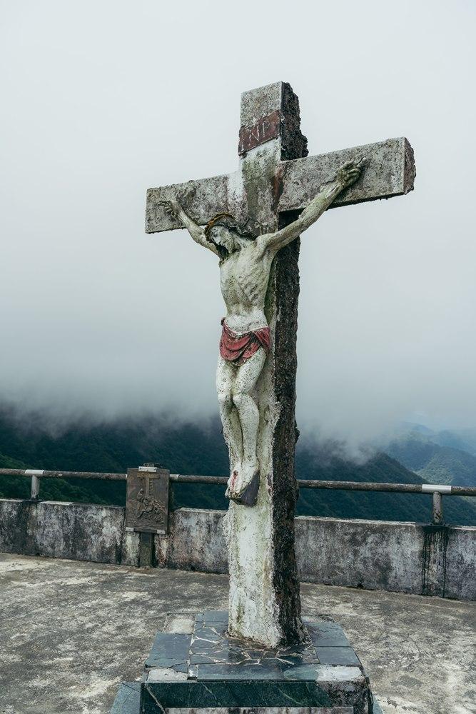 宜蘭抹茶山聖母山莊的耶穌像