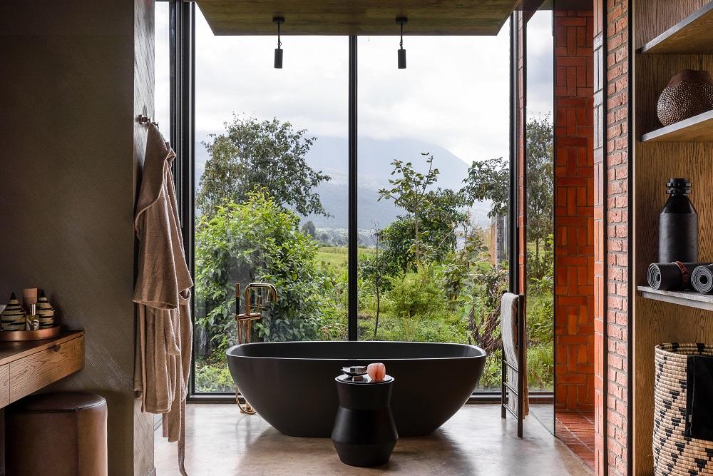 Singita/非洲/盧安達/荒野保護區/浴缸/火山景觀/原始自然