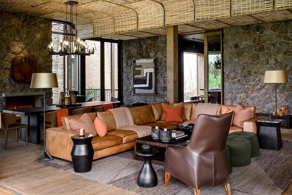 Singita/非洲/盧安達/荒野保護區/皮椅/沙發
