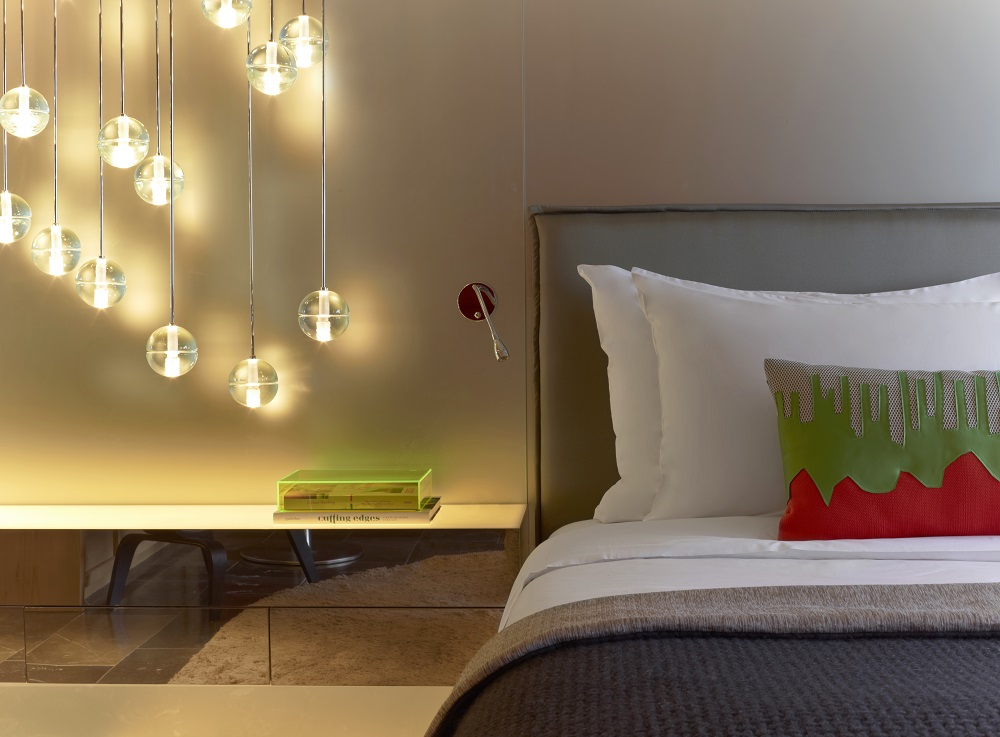 W Hotel Verbier/瑞士/絕景飯店/滑雪度假勝地/客房/臥室一隅