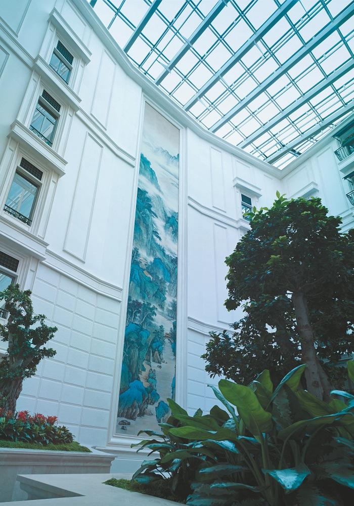 Shangri-la Bosphorus/土耳其/伊斯坦堡/訂製絲綢畫/中式山水畫
