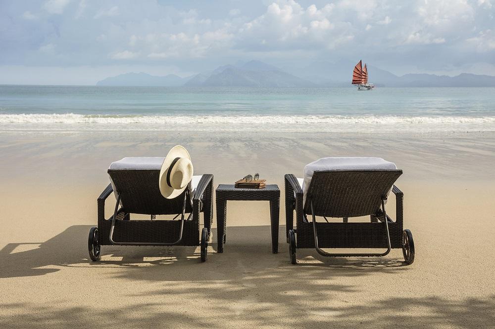 The Datai Langkawi/馬來西亞/熱帶雨林/度假/海灘椅/沙灘