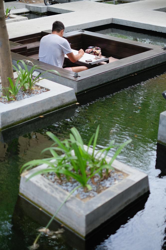43 Factory/峴港/越南/美食/第三波咖啡/手沖精品咖啡/室外水池