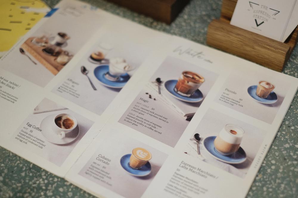The Espresso Station/峴港/越南/美食/自家烘焙咖啡/越式咖啡/菜單