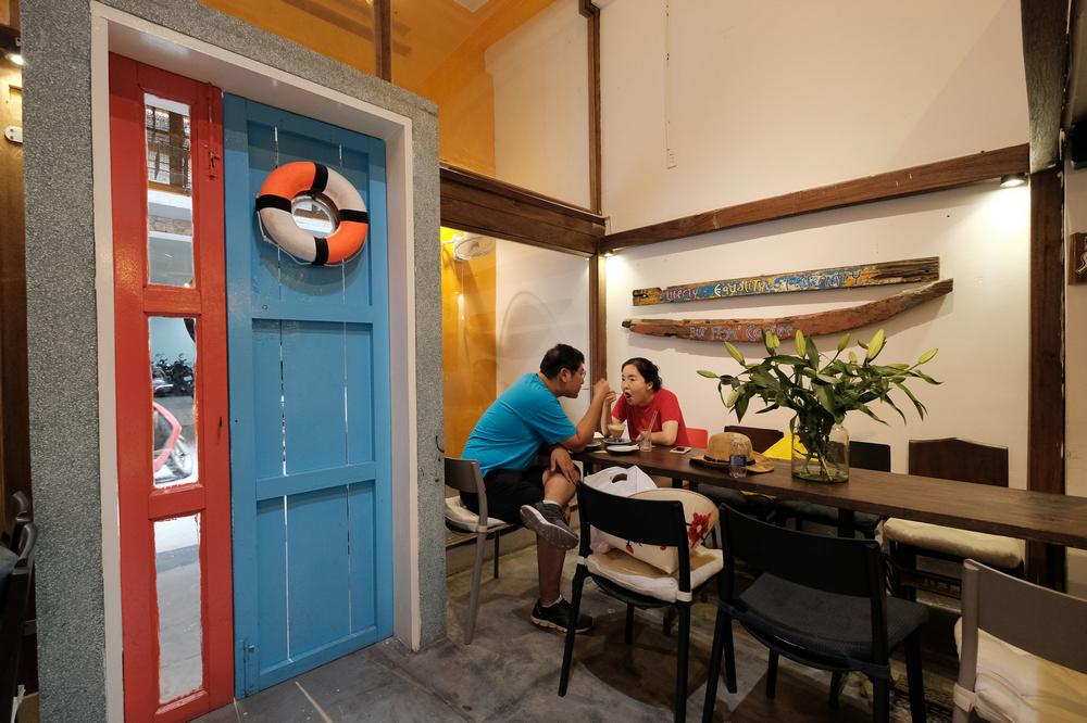 The Espresso Station/峴港/越南/美食/自家烘焙咖啡/越式咖啡/室內設計