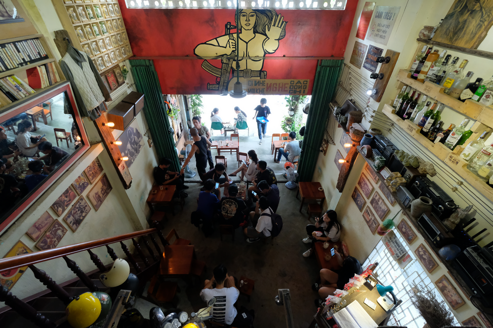 Nối Cafe /峴港/越南/美食/咖啡館/懷舊音樂/老越南