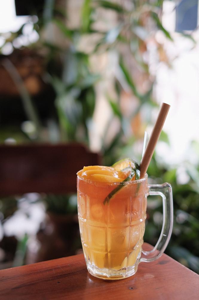 Nối Cafe /峴港/越南/美食/咖啡館/懷舊音樂/桃子茶