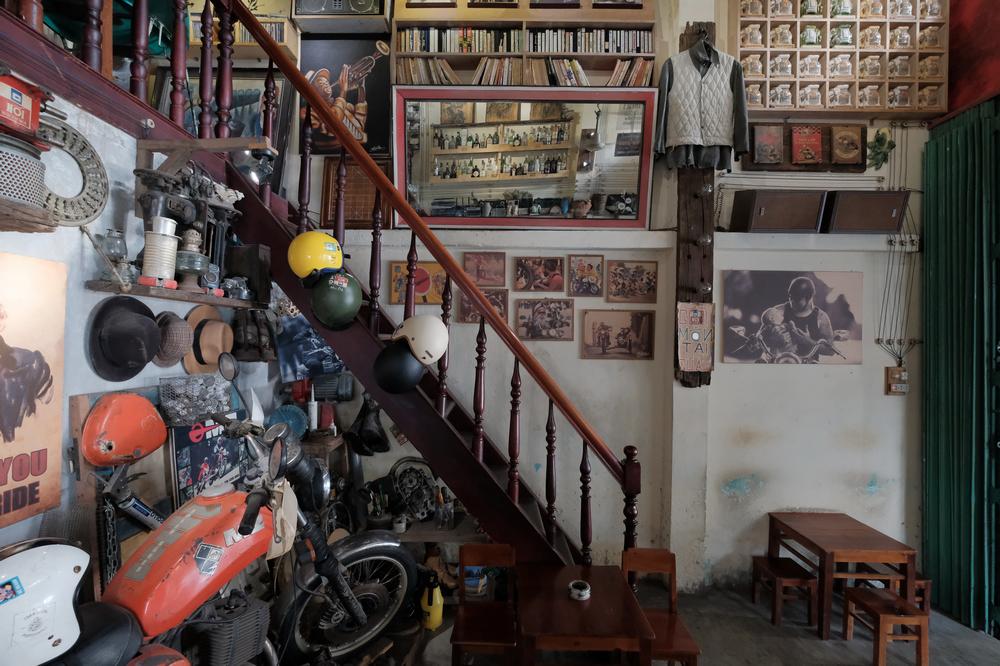 Nối Cafe /峴港/越南/美食/咖啡館/懷舊音樂/古董摩托車