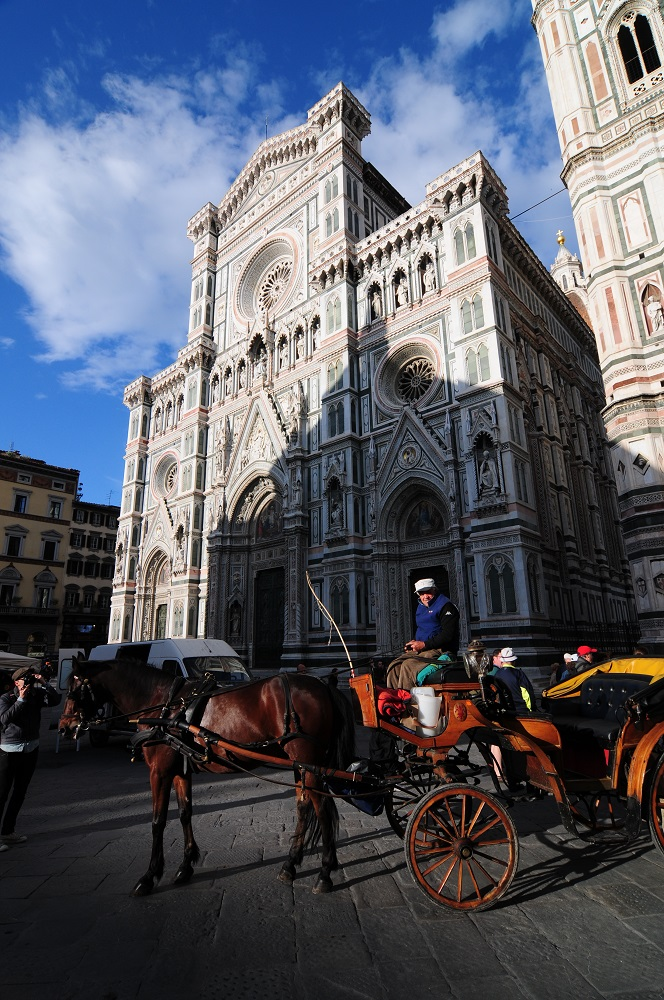Firenze Marathon/佛羅倫斯/佛羅倫斯馬拉松/聖母百花教堂/馬車