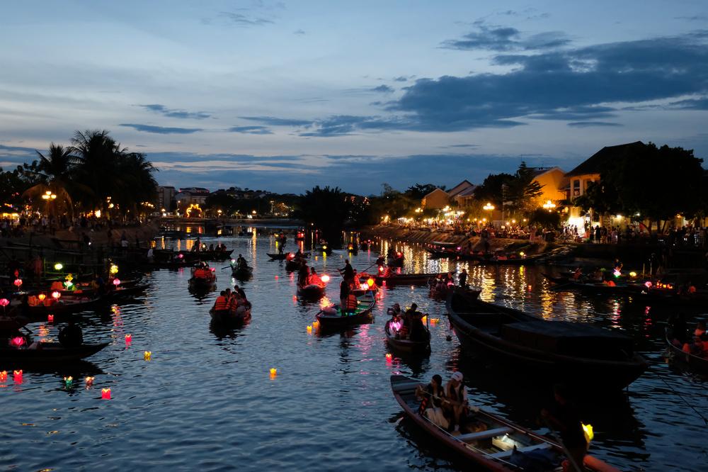會安古城/會安/越南/旅遊/世界遺產/秋盤河水燈
