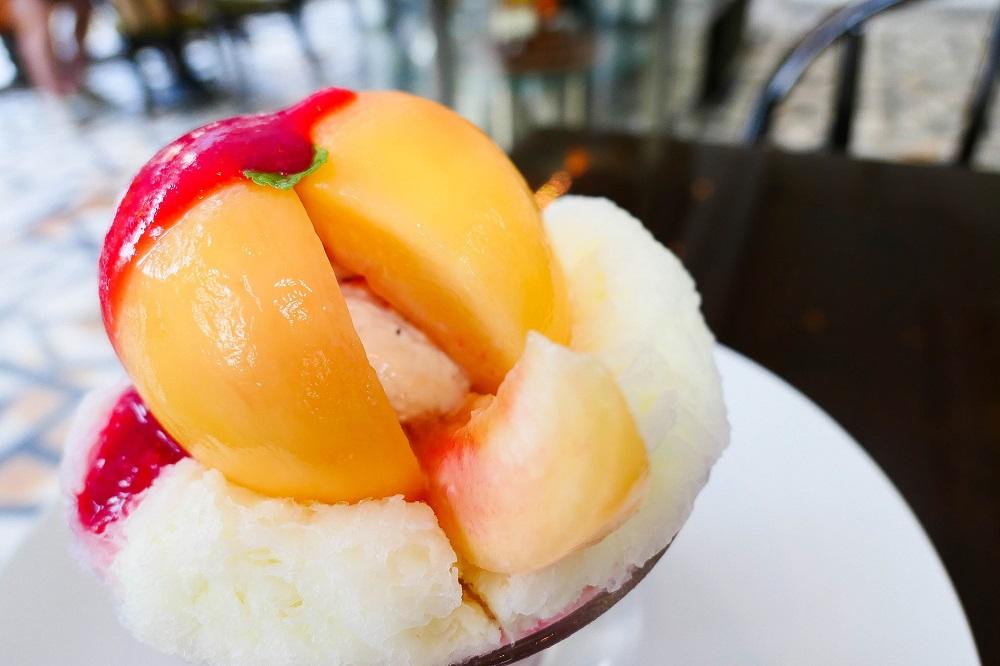 Maison de la Catégorie/首爾/清潭洞/奢華甜點/粉紅水蜜桃刨冰