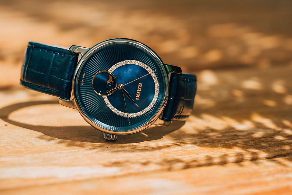Rado DiaMaster/鑽霸系列女仕月相鑽錶