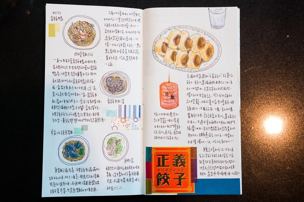 南國孩子Susan/台南/台灣/插畫家/手帳記錄/正義餃子/台南美食