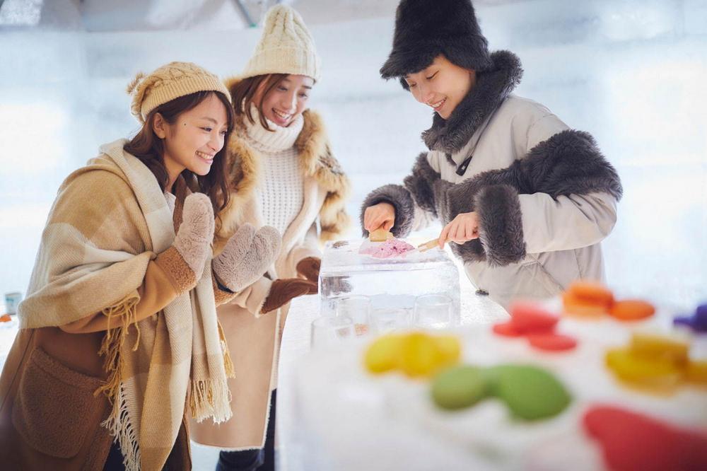 冰村/北海道/日本/旅遊/RISONARE TOMAMU/滑雪/打卡/冰之甜點店