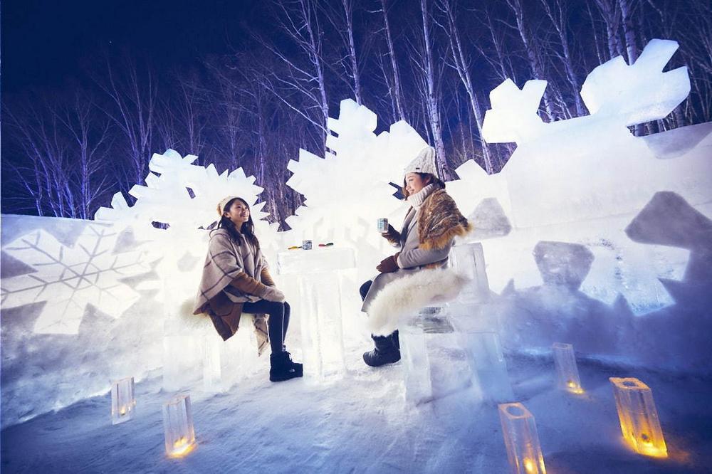 冰村/北海道/日本/旅遊/RISONARE TOMAMU/滑雪/打卡/冰晶公園
