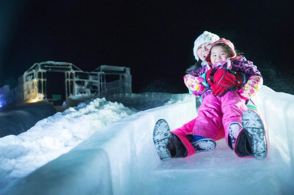 冰村/北海道/日本/旅遊/RISONARE TOMAMU/滑雪/打卡/冰之滑梯