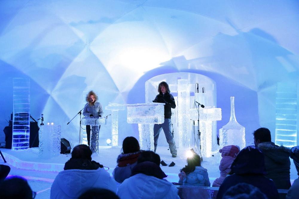 冰村/北海道/日本/旅遊/RISONARE TOMAMU/滑雪/打卡/冰之樂器屋
