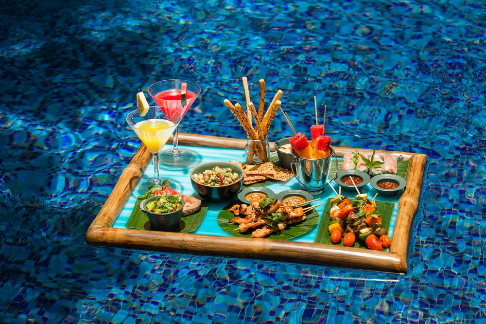 Naman Retreat/峴港/越南/旅遊/全球奢華精品酒店/漂浮餐盤