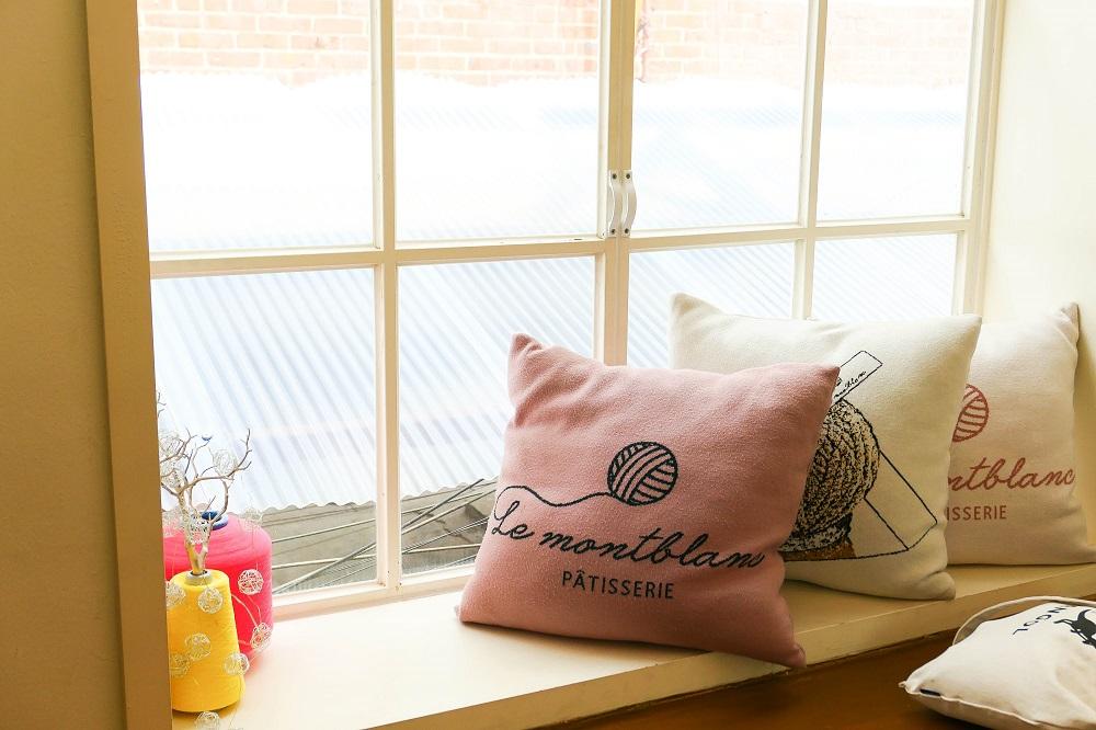 Le Montblanc/首爾/韓國/編織工廠/毛線抱枕/毛線球蛋糕