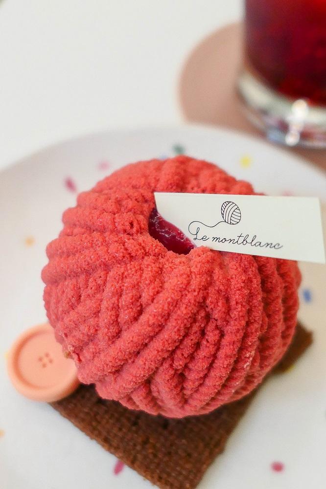 Le Montblanc/首爾/韓國/美拍甜點/慕斯/覆盆子/毛線蛋糕