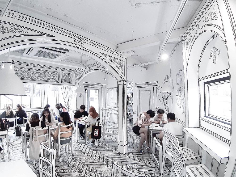 Cafe延南洞223-14/首爾/韓國/網紅名店/走進漫畫世界/韓式咖啡甜點
