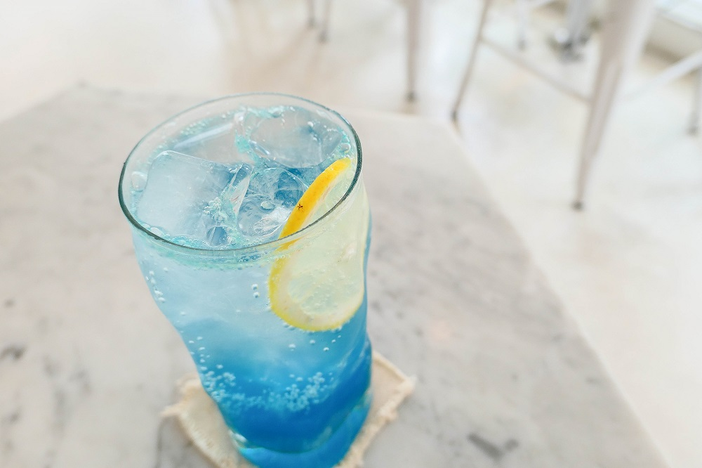 Laundry Project/首爾/韓國/特色咖啡館/藍色氣泡水/洗衣咖啡店
