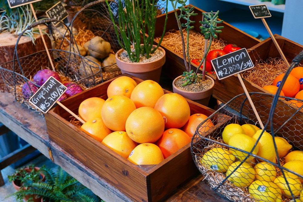 Oriole Cake/首爾/韓國/溫室綠花園/小農蔬果/市集風/葡萄柚/檸檬
