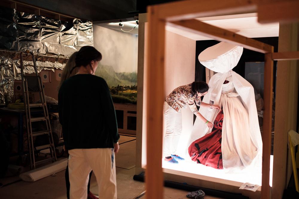 V&A Museum/倫敦/英國/旅遊/Tim Walker/特展/時尚攝影/展廳佈置