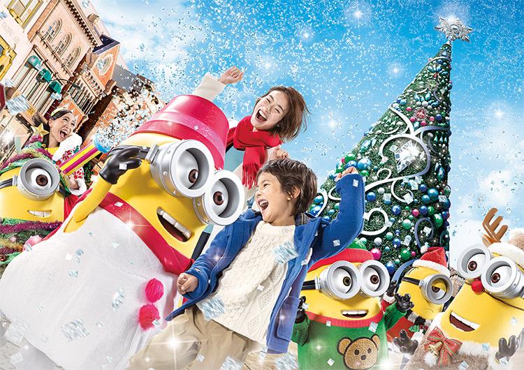 日本環球影城/大阪/聖誕節/水晶聖誕樹/小小兵/聖誕派對