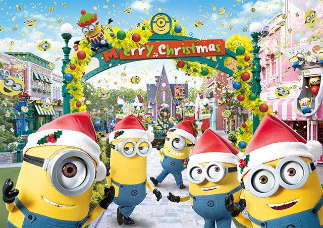 日本環球影城/大阪/聖誕節/小小兵/小小兵樂園的黃色聖誕節