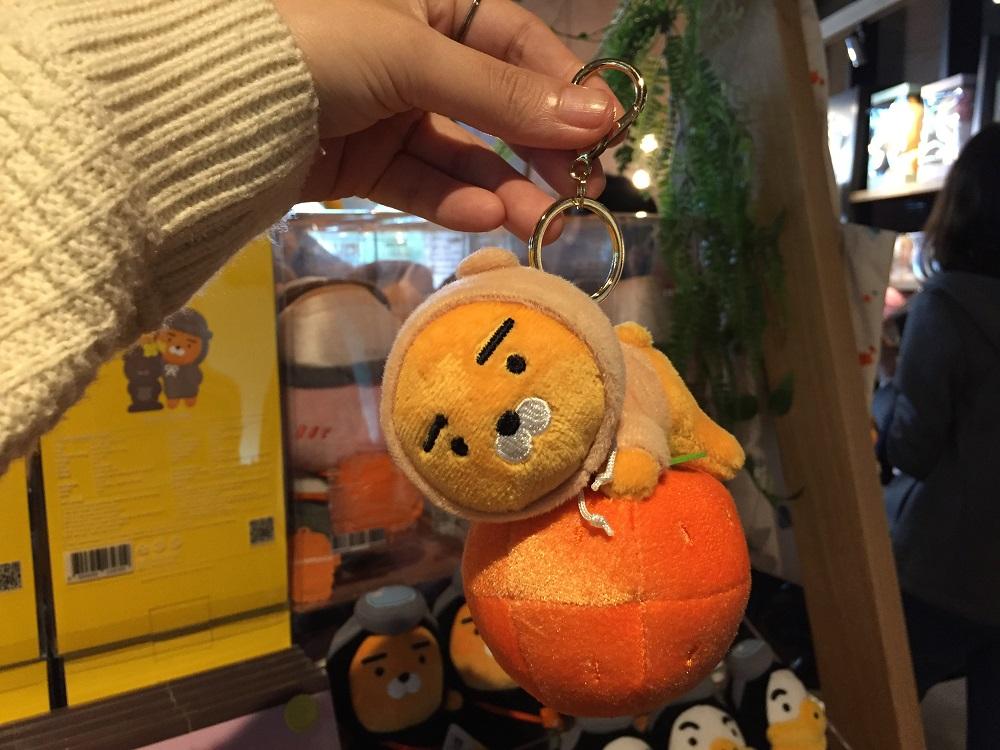 濟州島/Kakao Friends Space.1/萊恩獅子/漢拏峰橘子/可愛吊飾