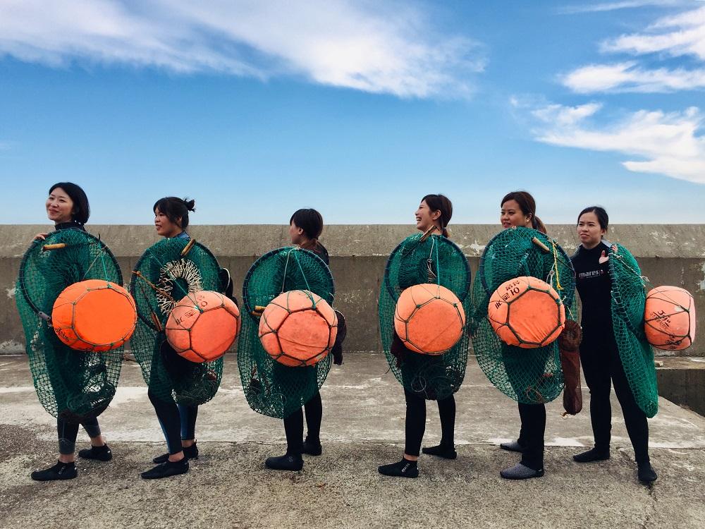 秋遊濟州島/韓國/海女/浮球/潛水裝/海女體驗