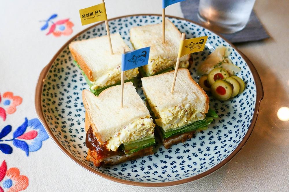 首爾新興市場/韓國/庶民風情/三明治專賣店/胖胖三明治