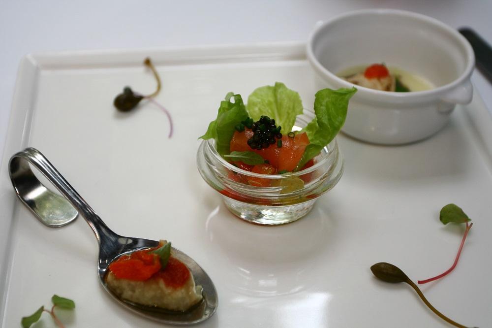 美術綠園道/台中/鹽之華法式料理廚房/鮭魚/前菜