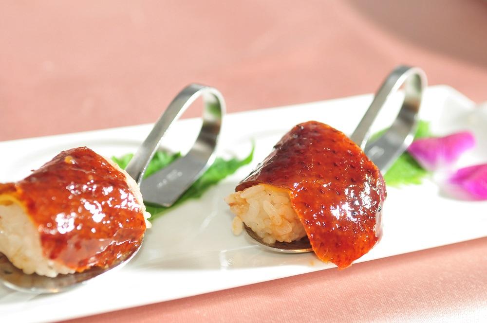 鴨壽司/最美味烤鴨/饕客票選第一名/蘭城晶英酒店紅樓中餐廳/林瑞勇