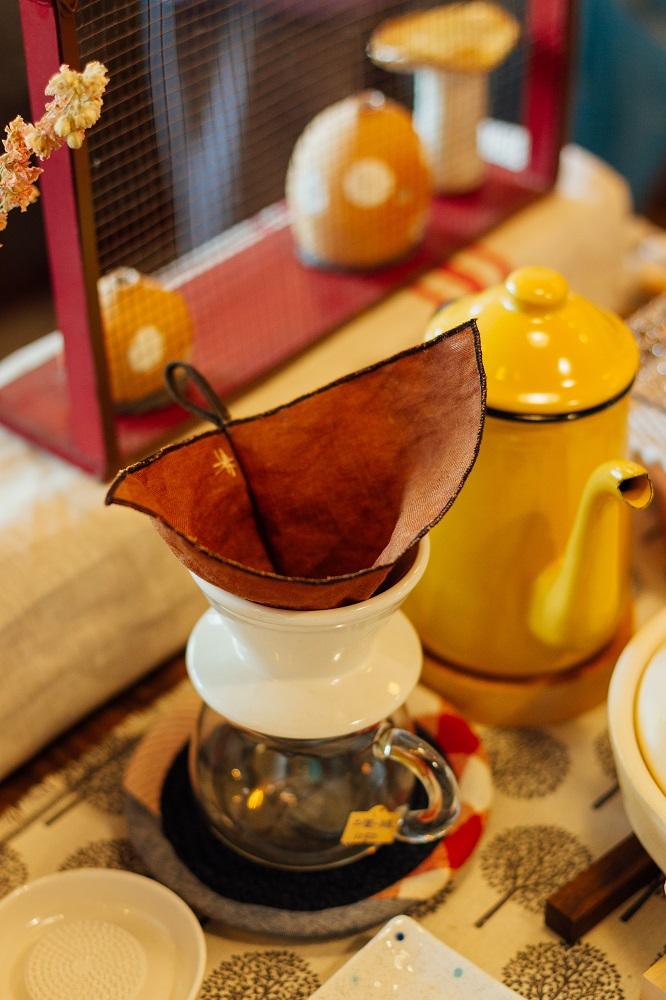 小院子生活雜貨/台中/可愛小物/亞麻咖啡濾布/煮咖啡小配件