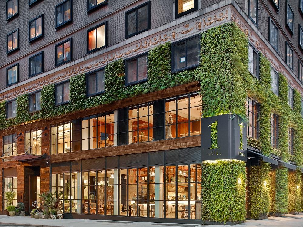 1 Hotel Central Park/曼哈頓/紐約住宿/美國/植物牆/環保旅宿/外觀