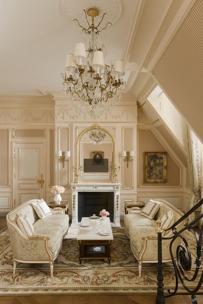 Ritz Paris/法國/巴黎/海明威摯愛/Coco 香奈兒的家/ 客廳/水晶吊燈