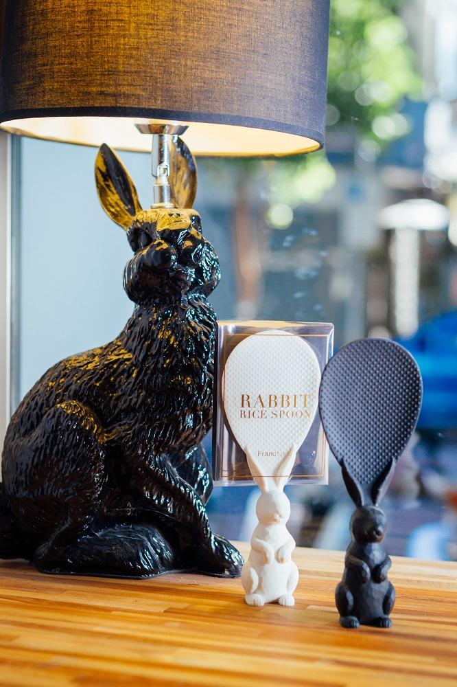 勺子雜貨咖啡館/台北/選物店/動物生活器具/飯匙/兔子檯燈